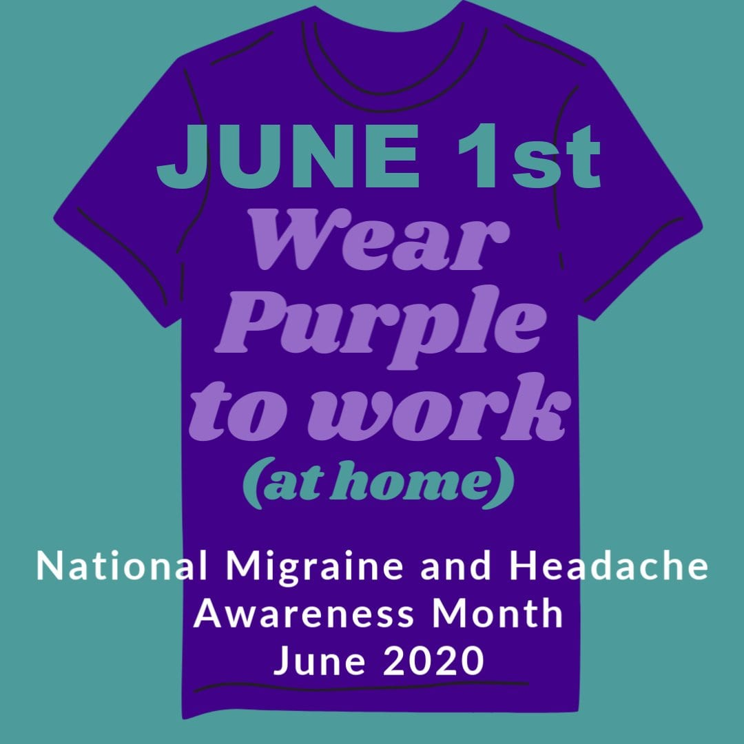 June 1st Wear Purple to Work (at home)